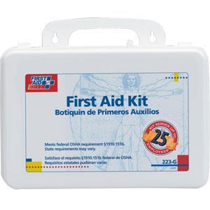 25 Person, 107 Piece Bulk First Aid Kit w/Gasket/Plastic