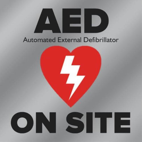 AED On-Site Clear Window Decal