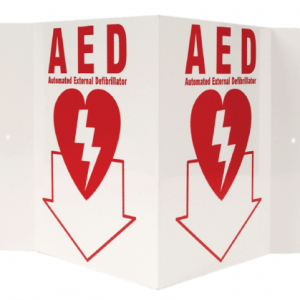 AED 3-D Rigid Plastic Sign/3D AED Sign