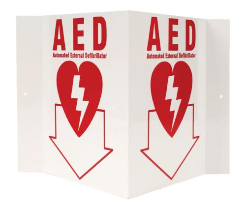AED 3-D Rigid Plastic Sign/3D AED Sign
