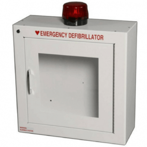 Surface-Mounted AED Wall Cabinet w/Strobe and Alarm
