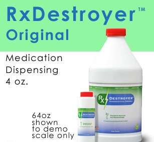 RX Destroyer TM Drug Disposal 4OZ