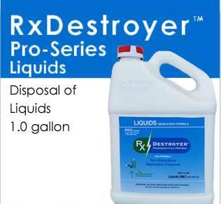RX Destroyer Pro Series Liquids Only-1 Gallon-4/Case