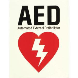 Glow-In-The-Dark AED Sign/Flat AED Sign