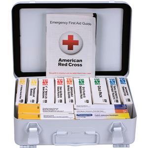 25 Person, 16-Unit ANSI A Unitized Weatherproof First Aid Kit (Metal)
