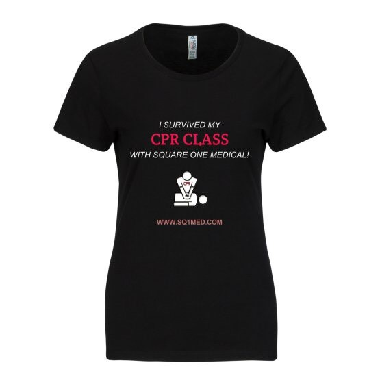 I survived my cpr class_ladies shirt_black