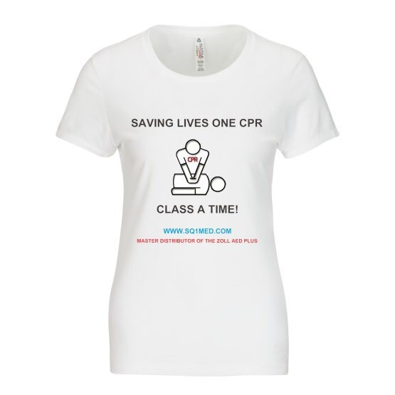 saving lives one cpr class at a time_ladies_white