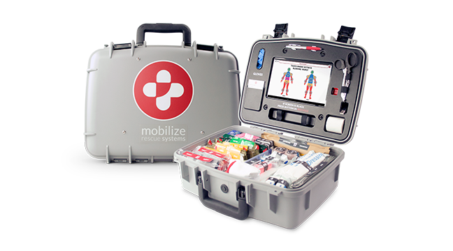 comprehensive mobilize rescue systems kit with opened view