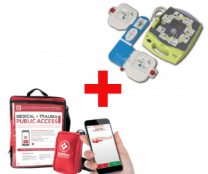 ZOLL AED Plus and Mobilize Public Access Trauma Kit