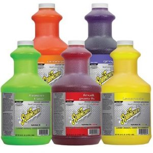 Bottles of Sqwinchers liquid concentrate in various flavors